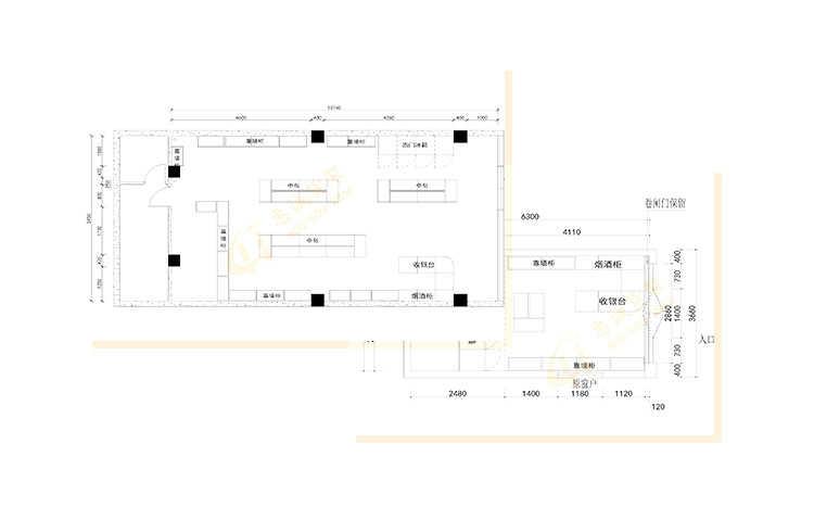 药店参茸矮柜-ZYGB款图片1-33