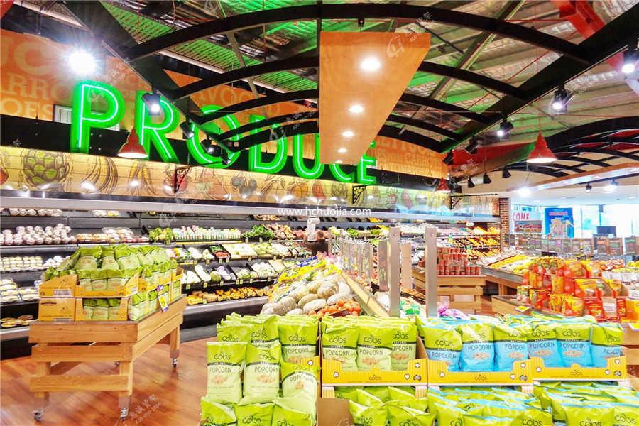超市货架摆放图片