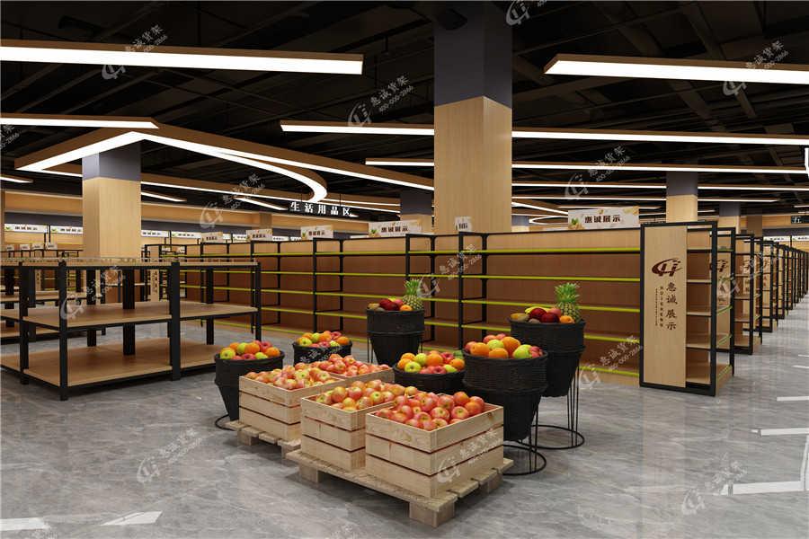 超市促销货架图片