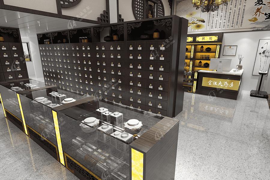 药店货架|中药店货架|中药柜|实木货架