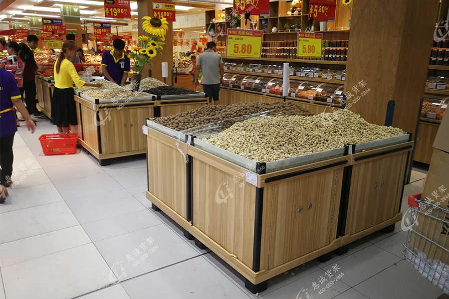 生鲜超市木质货架