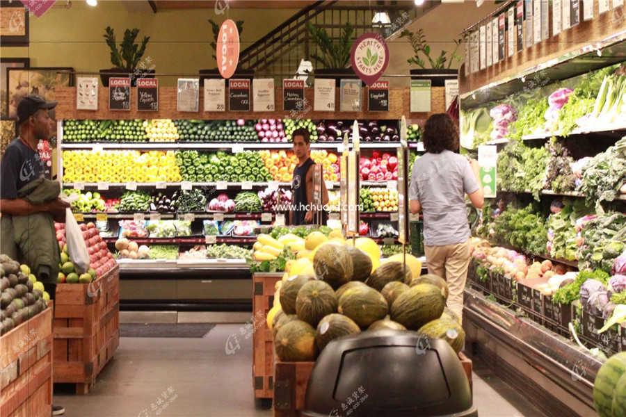 蔬菜水果货架图片
