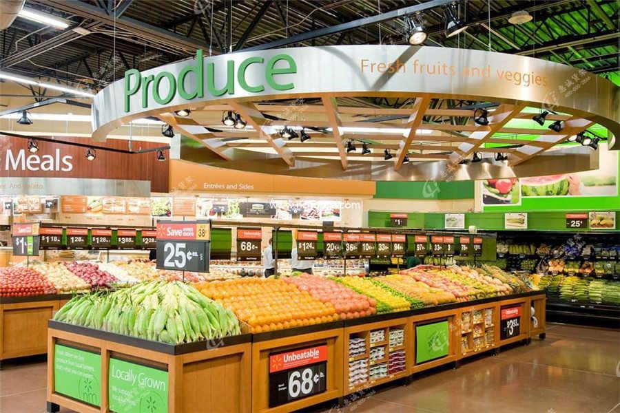 超市货架位置摆放