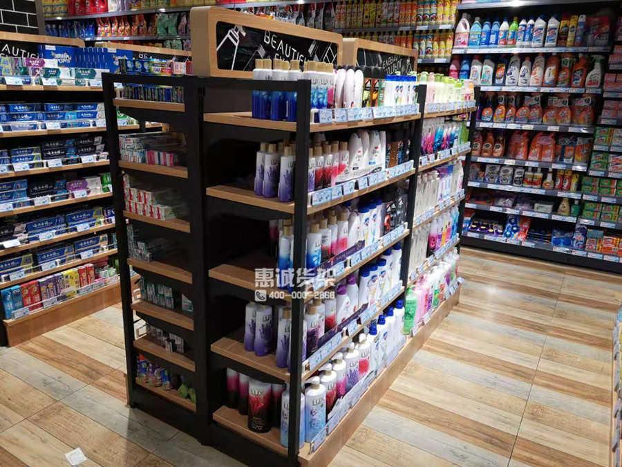 超市钢木货架款式3