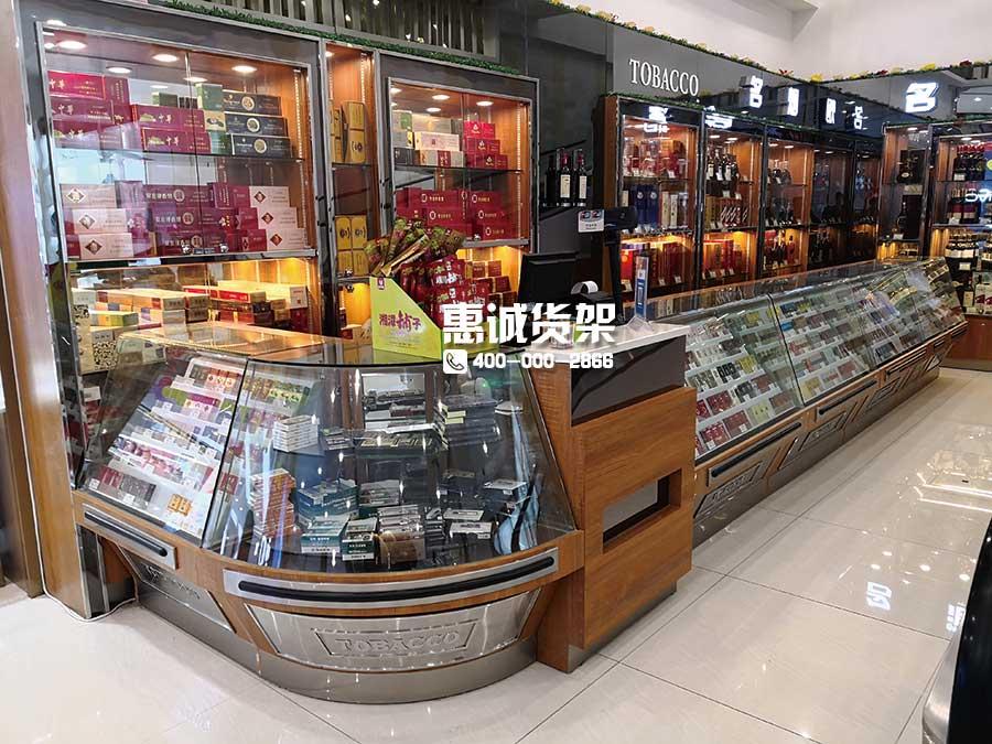超市服务区烟酒货架