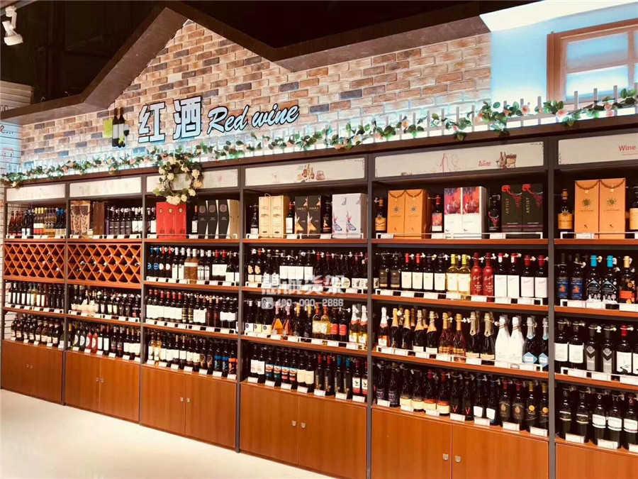 精品超市红酒架图片
