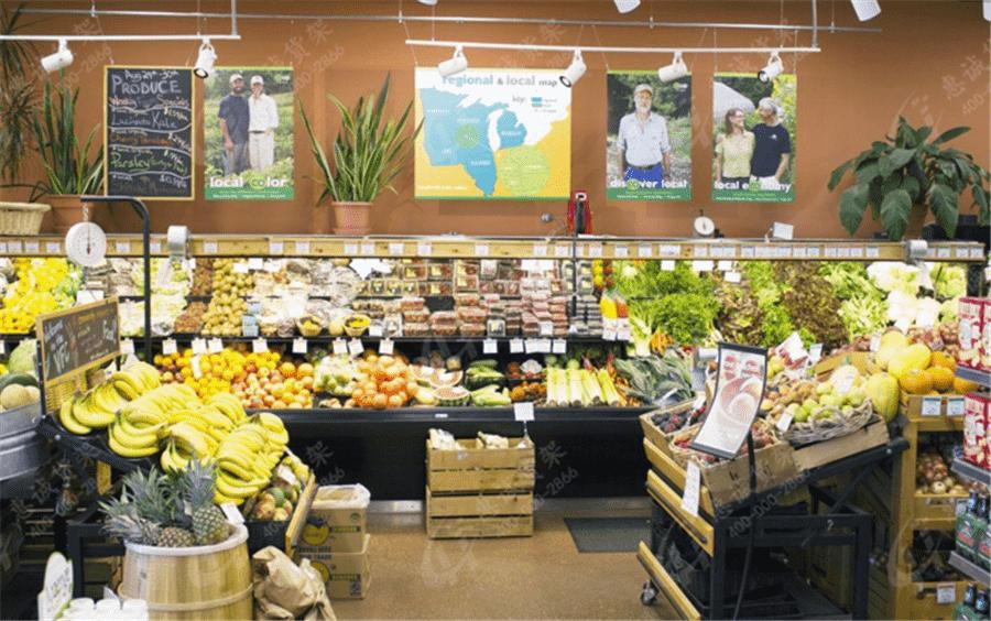 生活超市货架图片