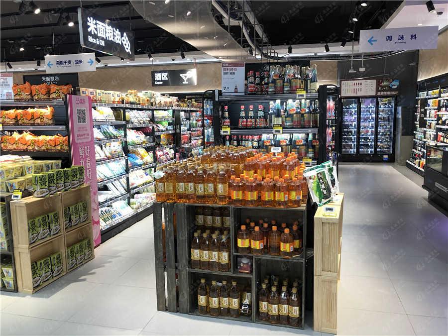 精品超市粮油货架图片