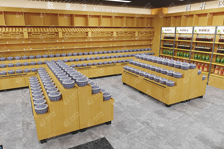 酱菜货架-超市散装货架