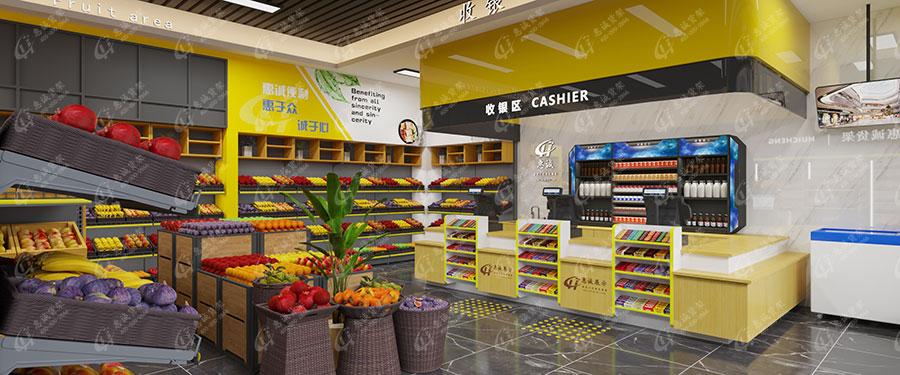 蔬菜水果超市货架摆放图片