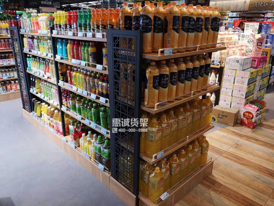超市便利店饮料货架实拍图