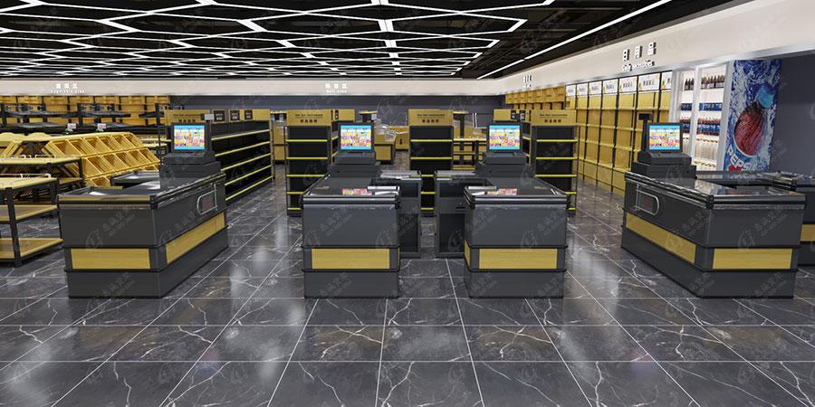 大型超市收银台