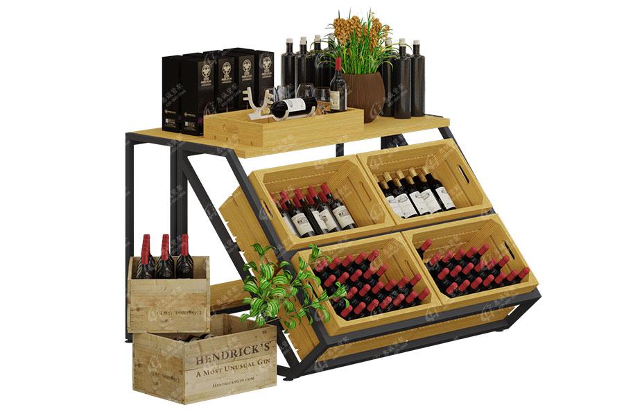 红酒堆头展示架图片1