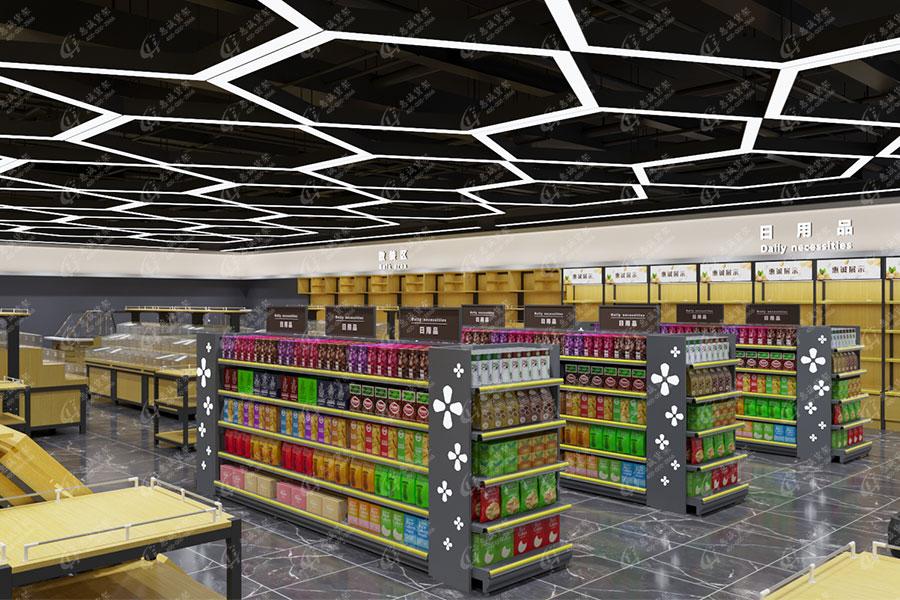 超市货架产品展示