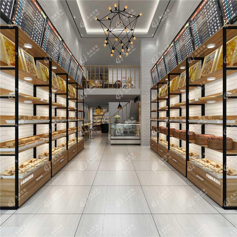 广州优美面包店货架图片1-1
