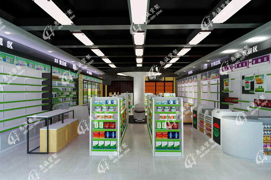 药店货架图片