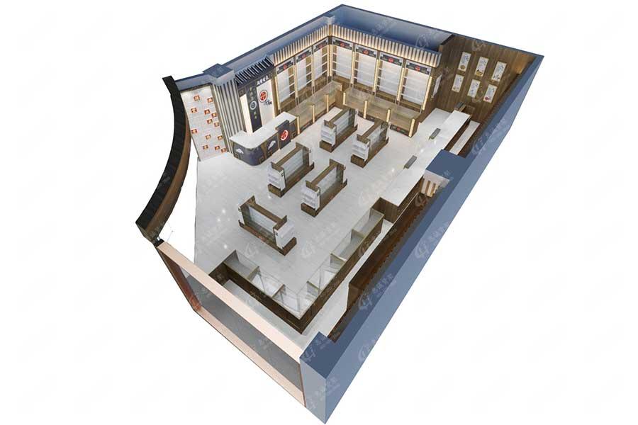 中药柜3D效果图片