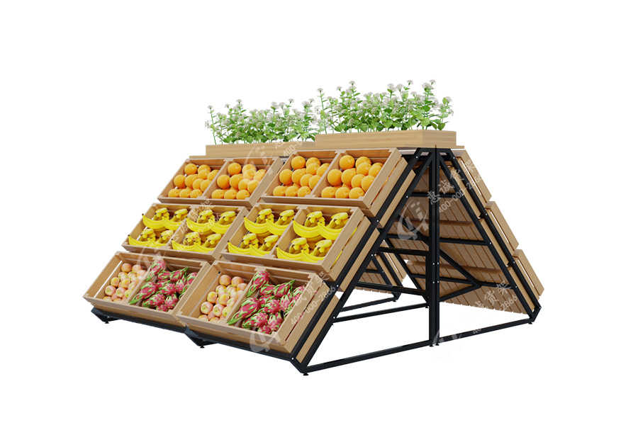 Double sided or single sided grocery vegetable fruit shelves
