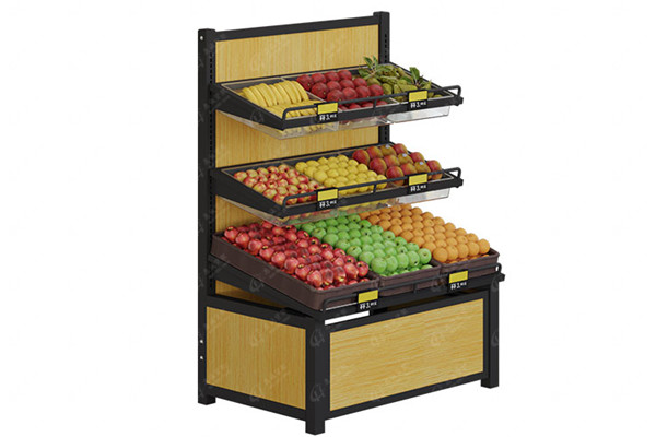 Fruit shelf-3 layer single side