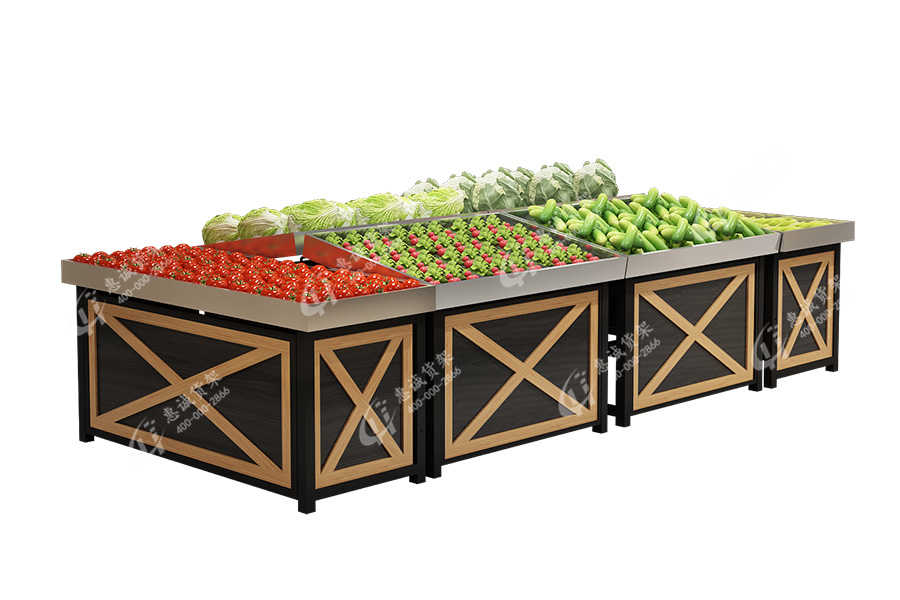 Huicheng stainless steel fruit vegetable island rack-X