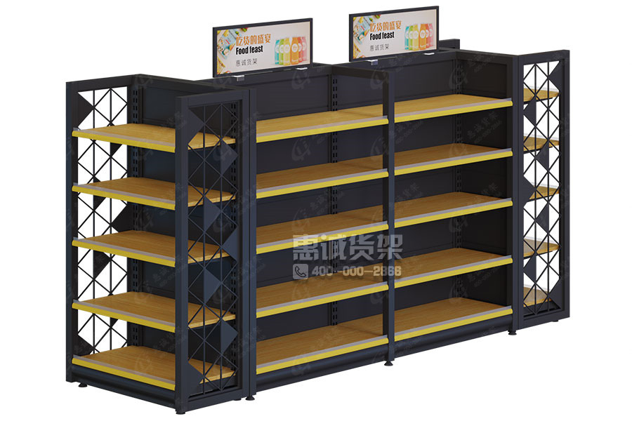 Good quality competitive price shelving customized double sided supermarket gondola shelf