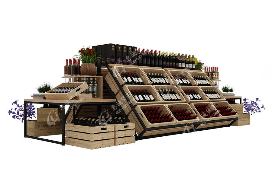 Huicheng Wine display rack with V shape_V