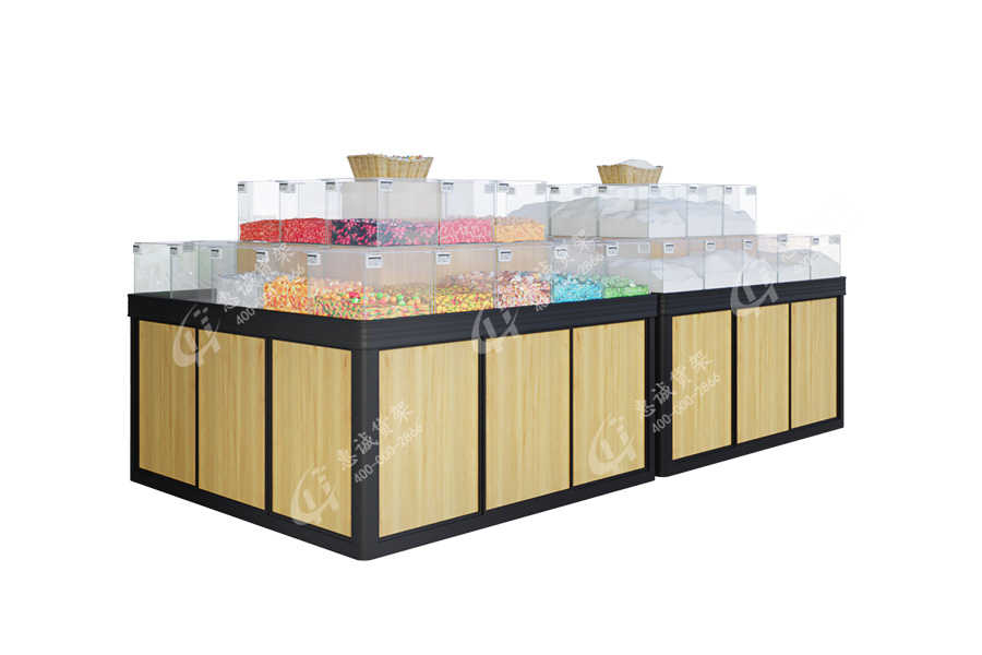 Huicheng Candy Snack Racks Dried Food Display With Acrylic Box_GZD