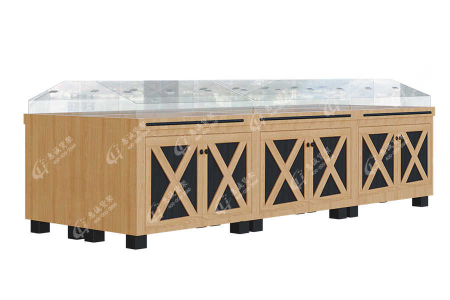 Supermarket store wooden flat display table_DTP
