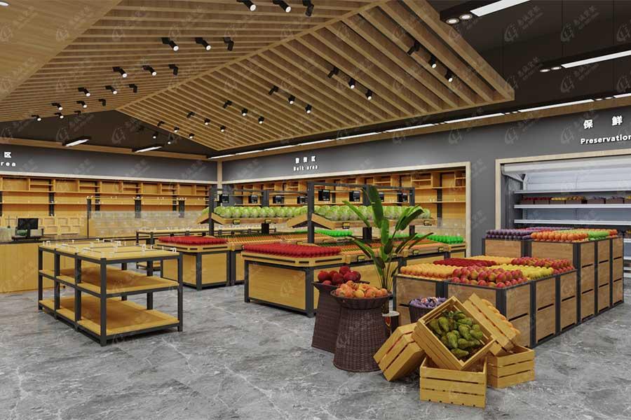 生鲜超市水果蔬菜类货架